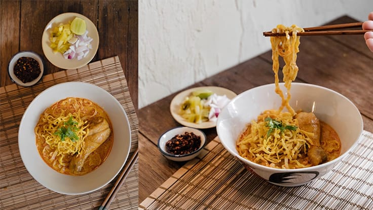 Zesty flavour and hearty ingredients make the <i>khao soi</i> at Ongtong a standout. Image courtesy of Ongtong.