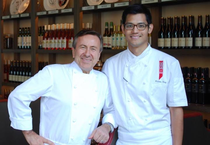 Chef Nicholas Tang (right) of DBGB in Washington D.C. with top French chef Daniel Boulud. (Photo: DBGB)