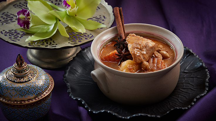 Chicken with massaman curry - a Thai classic. Photo courtesy of Baan Khanitha.
