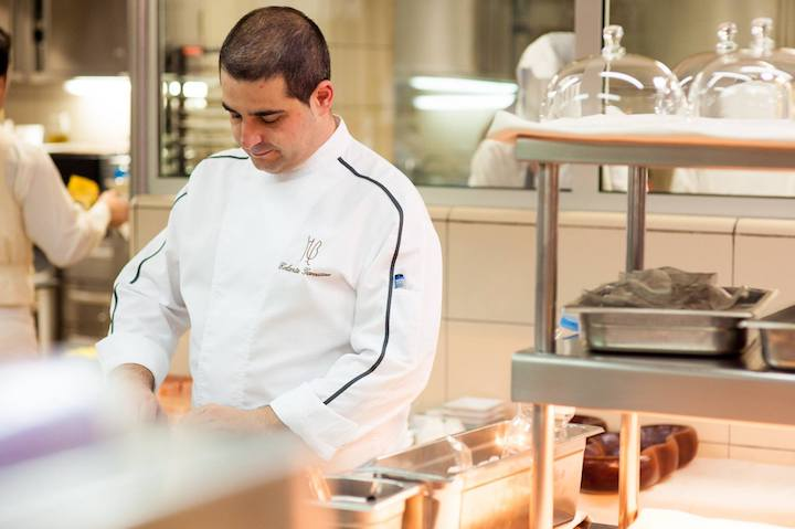 Erlantz Gorostiza, head chef of the two-MICHELIN-starred M.B at The Ritz-Carlton, Abama will bring Basque influences to The Stellar Dining Series. (Photo: The Ritz-Carlton, Abama)