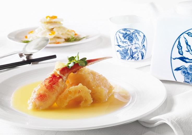 京花軒的蟹肉黃燒魚肚。
