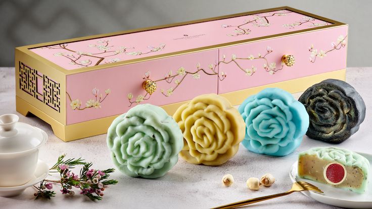 InterContinental Singapore's Tea Collection Snowskin Mooncakes (Pic and Banner pic: InterContinental Singapore)