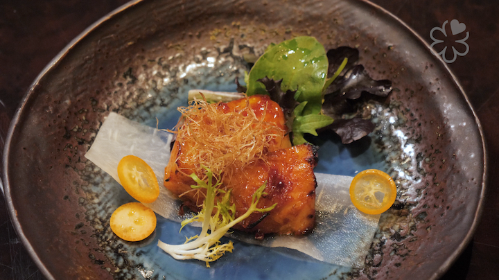 Baked Sea Perch Fillet With Kumquat Chilli Sauce has a tantalising mix of spicy and citrus flavours.