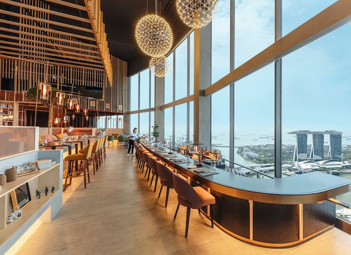 Swissotel The Stamford converted the space vacated by Equinox into contemporary grill restaurant SKAI last year. (Photo: Swissotel The Stamford)