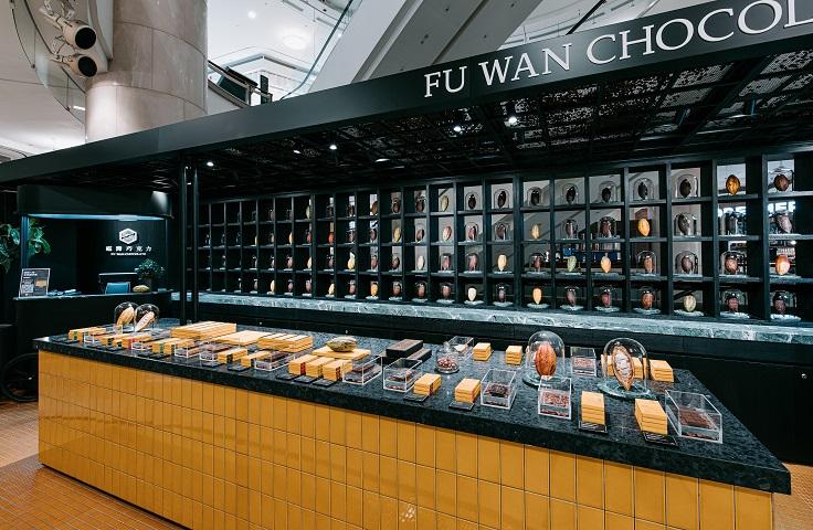 在許多世界大獎拿到金獎的屏東巧克力品牌福灣正式在台北 101 設立直營店。(照片:福灣巧克力提供)