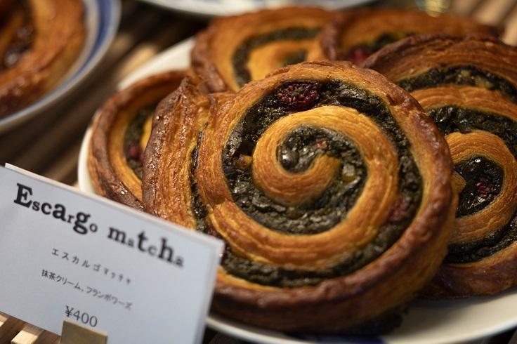 Bricolage Bread & Co. 麵包製餅等雖是歐式風格,但也有和風味道,如這款就加入了抹茶忌廉。(圖片:Bricolage Bread & Co. 提供)