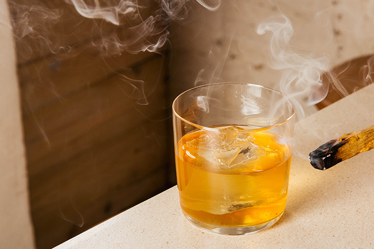 Flaming Creatures: cacao-infused Japanese whiskey, sweet miso, palo santo smoke.