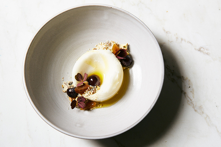 Tennessee honey sorbet by pastry chef Laurence Faber.