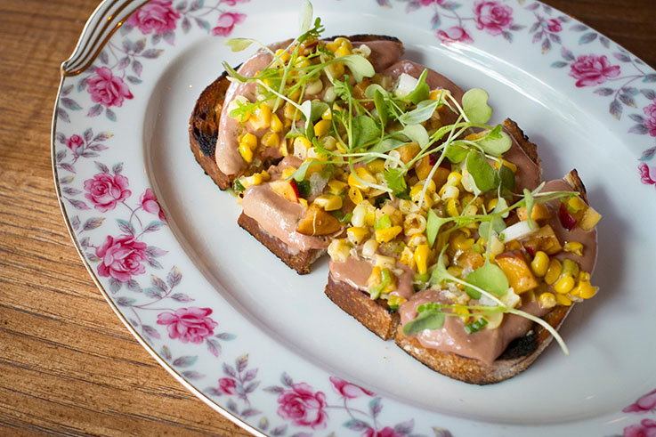 Chicken liver toast at Virtue. (Photo courtesy of Virtue/Facebook.)