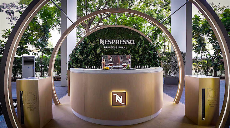 Coffee and cocktails are the perfect match at the Nespresso bar.