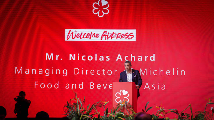 This was followed by a speech by Nicolas Achard, Managing Director of Michelin Food and Beverage Asia.