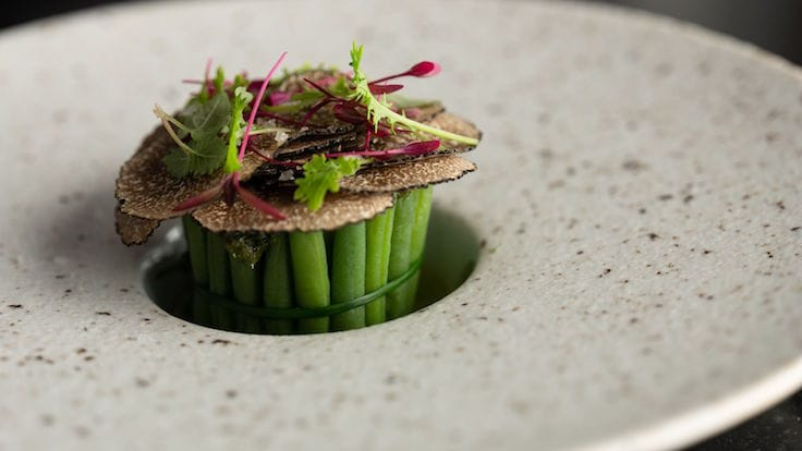 Gillon employs the use of indigenous French herbs from the Alps for his cuisine (Pic: JAG)