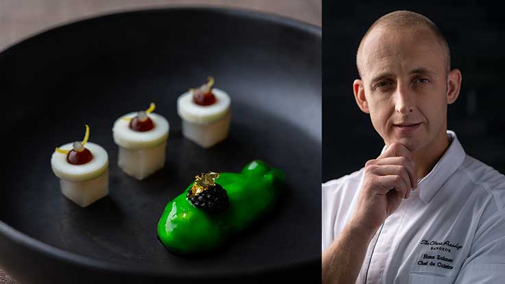 Photo Caption: Kaviari Kristal Caviar and Chef Hans Zahner.