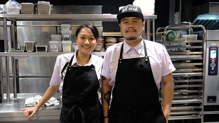 "The two chefs behind 80/20: (from left) Saki Hoshino and Napol ""Joe"" Jantraget (Pic: Colin Ho)"