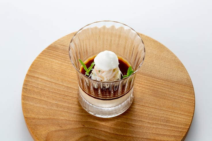 Crab Pudding with Ginger and Tarragon Essence (Photo: The Landis Taipei)