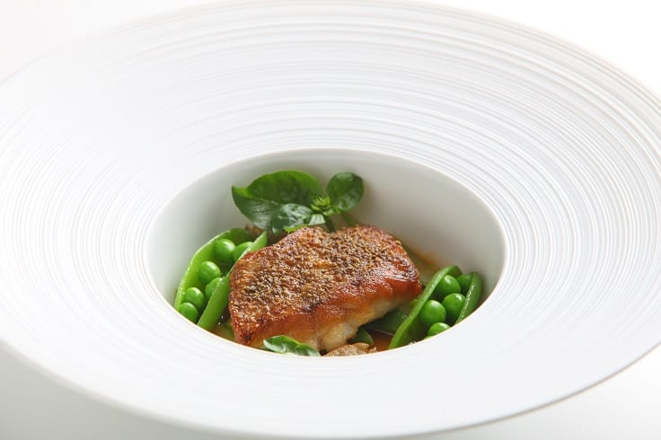 Rosy sea bass with mountain peppercorn and buckwheat (Photo: The Landis Taipei)