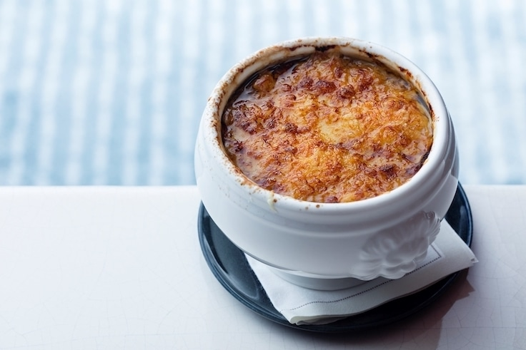The French onion soup at Voyages is a classic that can be found in bistros across France. (Pic: Morpheus)