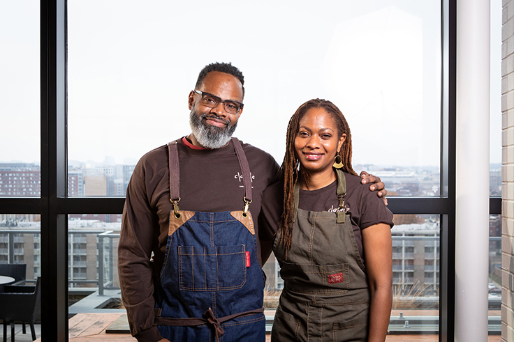 Chef/co-owner Peter Prime and co-owner Jeanine Prime.