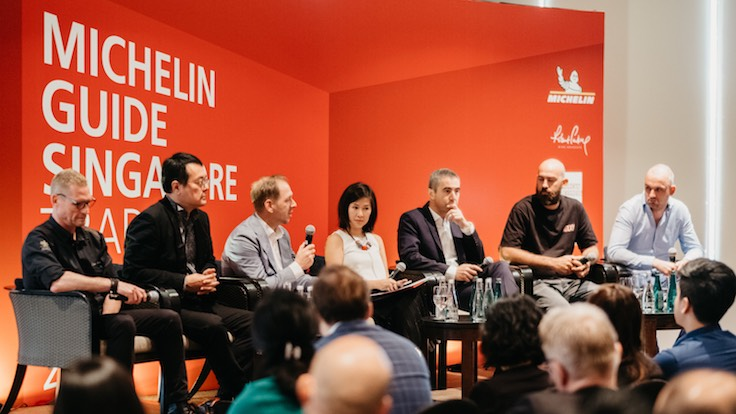 Panellists, from left to right: Emmanuel Stroobant, Andrew Tijoe, Kim Stengert, Debbie Yong, Nicolas Achard, Dave Pynt and Jimmy Ophorst.