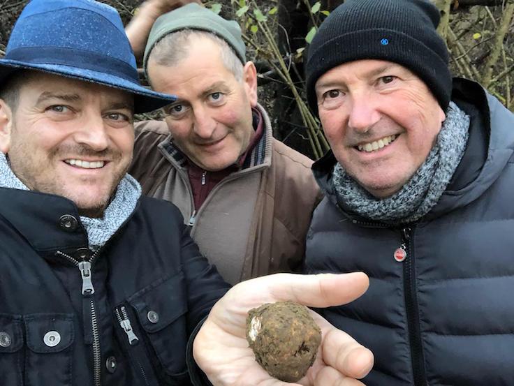 De Vito (left) on a truffle hunt in Alba last year (Pic: Beppe De Vito)