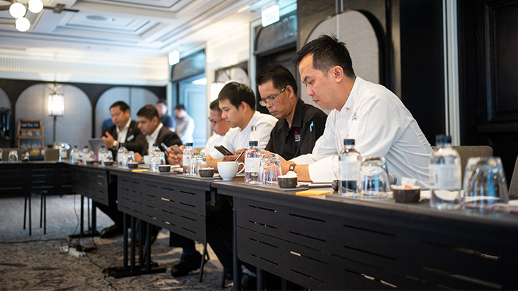 The team of Marriott Bangkok Hotel The Surawongse is focused and ready to take on the challenge.