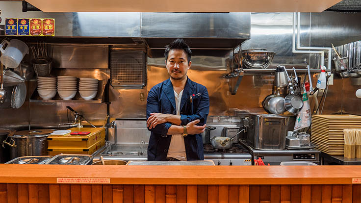 Chef and owner Yuki Onishi hails from a family of ramen chefs.