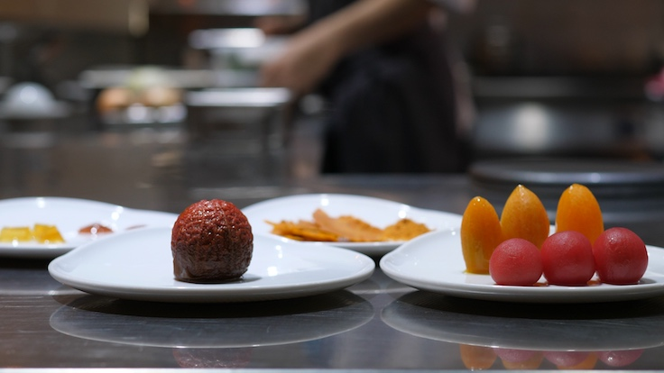 Tomatoes in all its tastes and textures appear in Muoki's signature starter (Pic: MICHELIN Guide Digital)