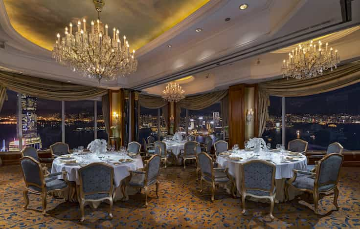 The Alsace Room at Petrus can seat up to 40 diners.