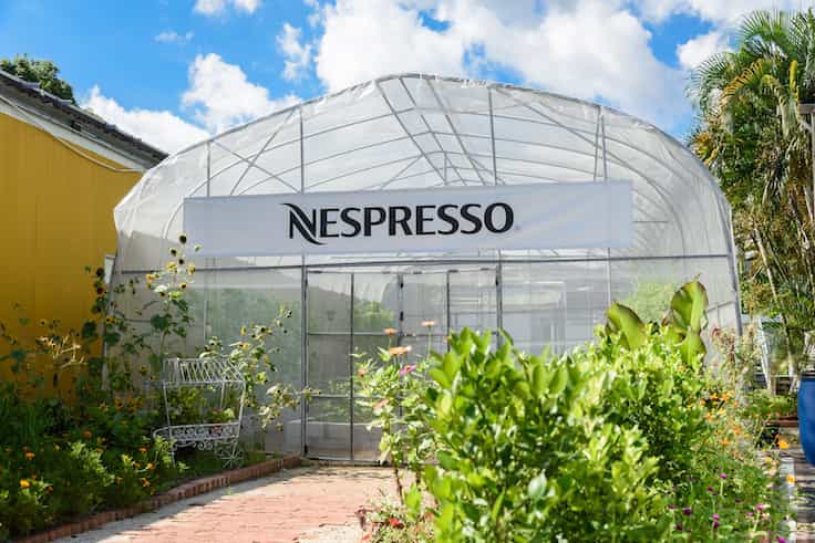 At the Hong Kong Organic Waste Recycling Centre, vegetables are all grown with the compost made from used coffee grounds in a greenhouse supported by Nespresso. (Pic: Nespresso)