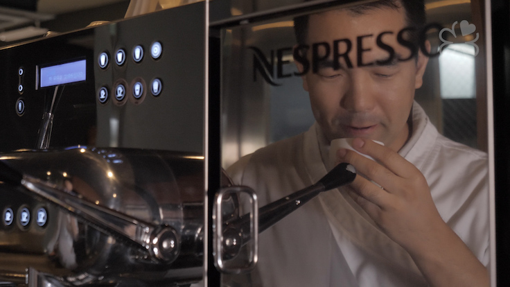 Collaborative events like this 6-hands organised by Nespresso allows chefs to explore their creativity.