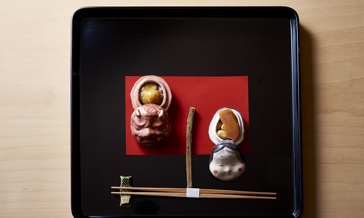 片山心太郎在今年年節期間作的料理,充滿日本風味以及季節感。(楽心提供)