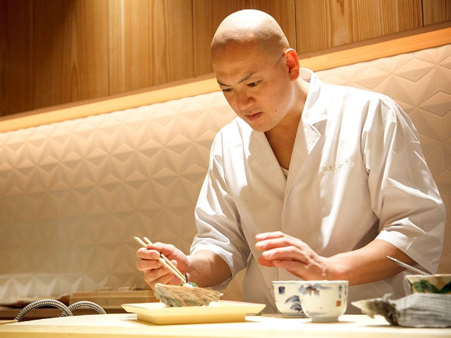 Chef-owner Takemasa Shinohara (Pic and banner pic: Ginza Shinohara)
