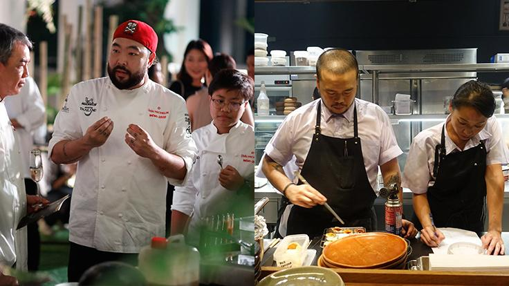 Chefs Andy, Joe and Saki showcase a contemporary interpretation of Thai flavours using modern techniques. <br>Right photo source: 80/20's  Facebook page.