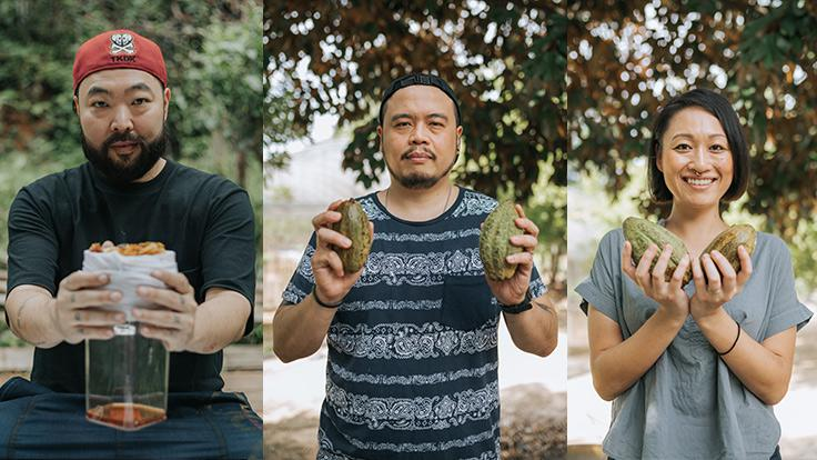 The three Thai chefs are part of a generation of culinary experts who support local produce.