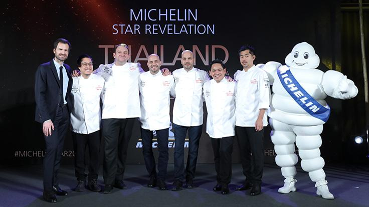 The full chefs line-up of 2 MICHELIN starred-restaurants at the MICHELIN Star Revelation Thailand 2020.