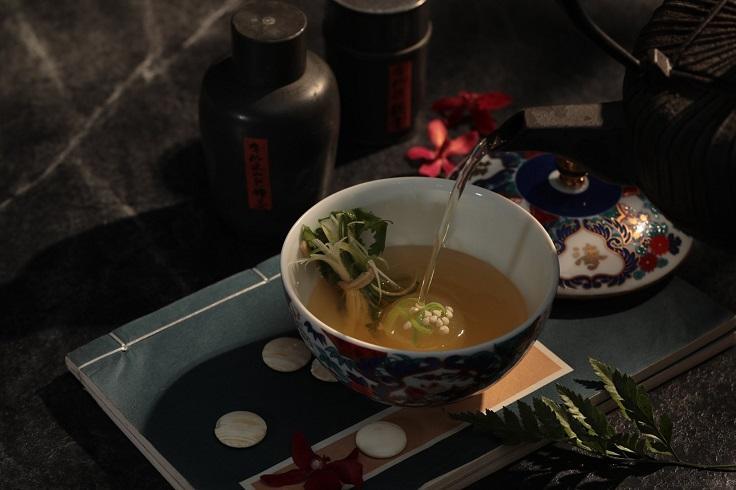 呈現辦桌文化的有趣菜色「玲瓏湯」(圖片:山海樓提供)