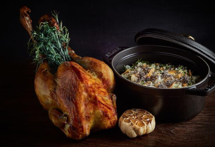 "Roasted Hong Kong Yellow Chicken With Niigata Rice ""En Cocotte"" is the best-selling dish at Louise. (Photo: Louise)"