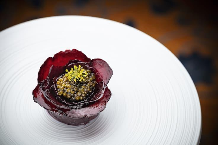 Beetroot, one of the new dishes introduced by Opocensky after he joined Petrus. (Photo: Island Shangri-la, Hong Kong)