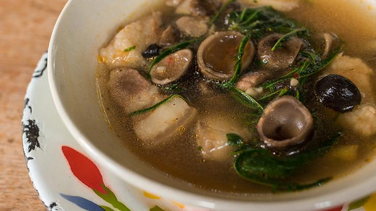 Refreshing puffball mushrooms in spicy soup. <br><i>Photo credit: Alana Morgan for The MICHELIN Guide.</i>