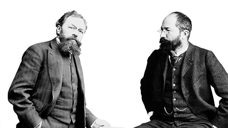 André et Édouard Michelin, fondateurs du Groupe et inventeurs du Guide MICHELIN.