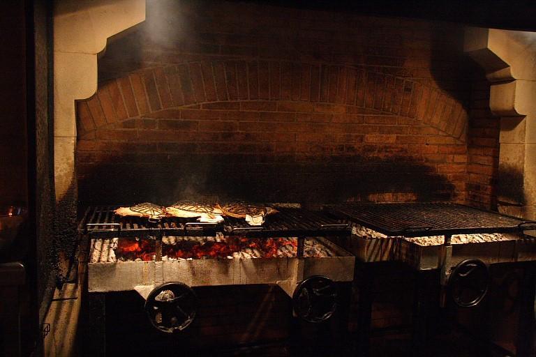 The grill at Asador Elkano (Pic: Asador Elkano Facebook)