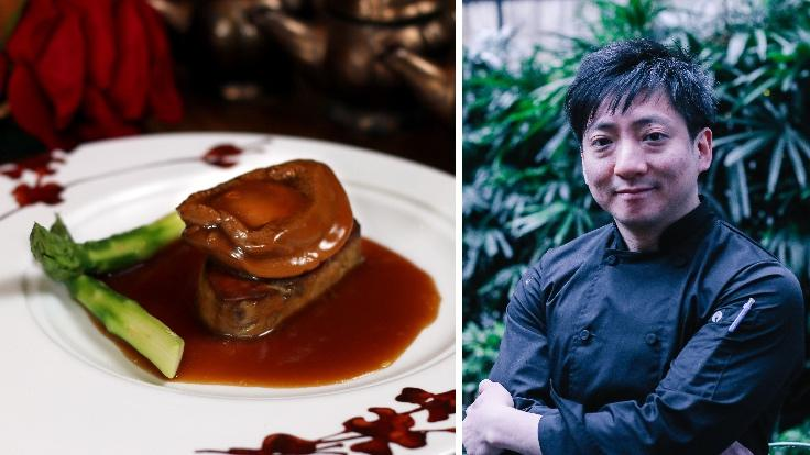 Braised foie gras and abalone by chef Li Man-Lung. (Photo: Duddell's)