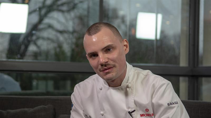 Le chef Balthazar Gonzalez, Hédone, 1 étoile en 2020  ©Michelin