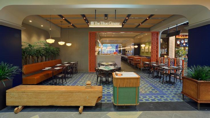 The Blue Ginger at Great World with its modern, casual interiors (Photo: The Blue Ginger)