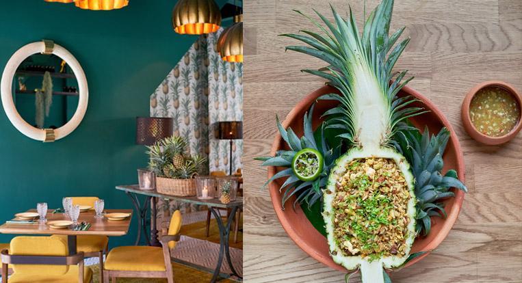 Casa Sapparod,  a new pineapple-inspired restaurant on Charoenkrung in Bangkok. (Photo: Chili Pop)