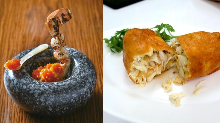 Sorn's bold-yet-sophisticated creation meets Jay Fai's famous crab omelet. (Photo: Sorn)