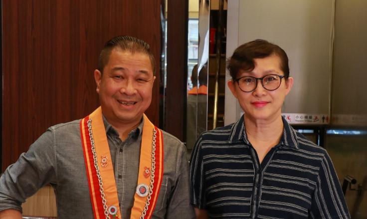 From left: Hop Sze restaurant's two bosses: Wong Wing Kuan and Lam Suk Kiu