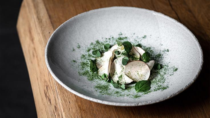 Truite du Vercors, champignon et persil ©Studio Papie Aime Mamie
