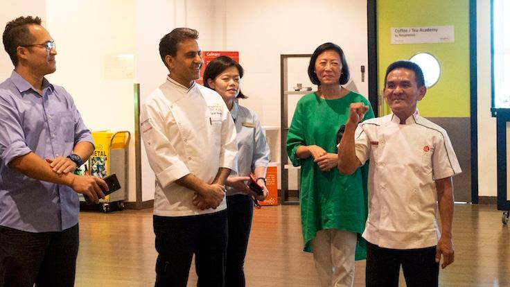 Chan Hon Meng speaking to chef-students at At-Sunrice GlobalChef Academy (Photo: At-Sunrice GlobalChef Academy)