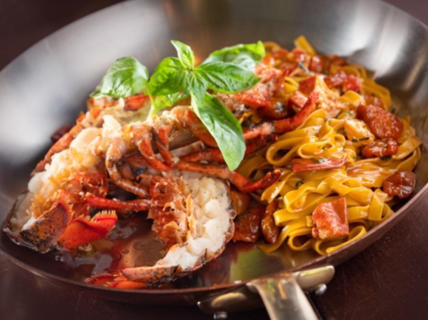 Bencotto 的波士頓龍蝦手工寬麵,也可供外帶。(圖片:台北文華東方酒店提供)